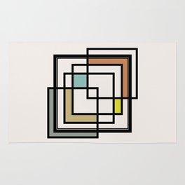 Mid Century Modern Squares Rug