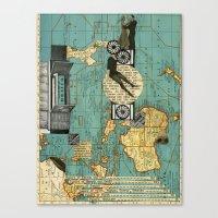 maps Canvas Prints featuring Maps by Ubik Designs