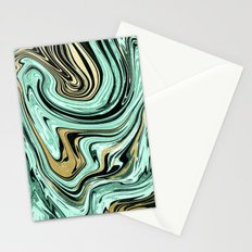 MARBELLOUS IN MINT AND GOLD Stationery Cards