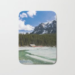 Canoeing in the Mountains Bath Mat