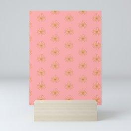 Gold and Pink Evil Eye Boho Pattern Mini Art Print