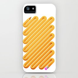 Curved Pencil iPhone Case