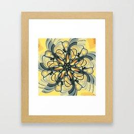 Swirly Flower Abstract 06 Framed Art Print