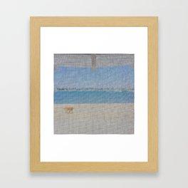 screen door beach Framed Art Print