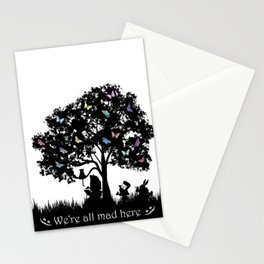 We're All Mad Here III - Alice In Wonderland Silhouette Art Stationery Cards