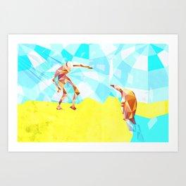 Electric Pinguin Art Print