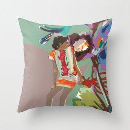 Maria de las Flores Throw Pillow