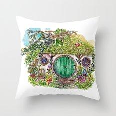 Hobbit hole Throw Pillow