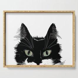 Tuxedo Cat Serving Tray