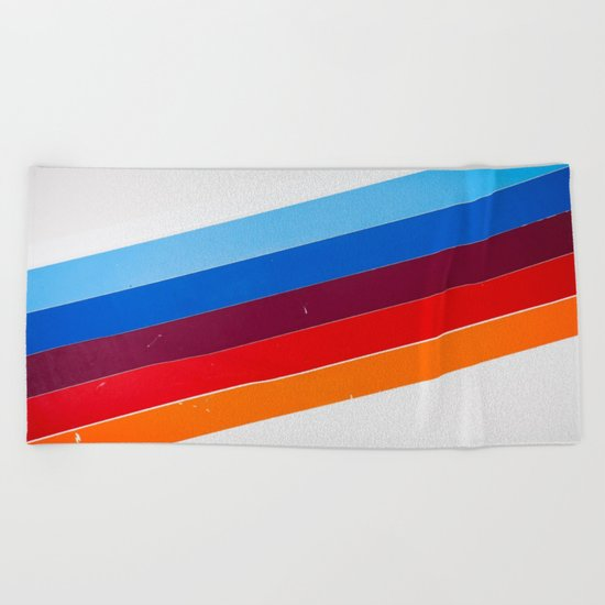 lines on lines Beach Towel