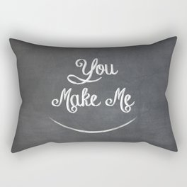 You Make Me Smile - Chalkboard Rectangular Pillow