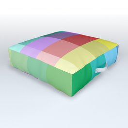 Colorful Squares Outdoor Floor Cushion