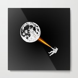 Light On The Moon Metal Print