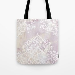 MANDALA ON PINK MARBLE Tote Bag