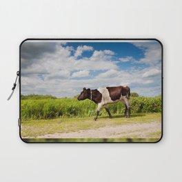 Calf walking in natural landscape Laptop Sleeve