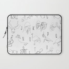 Blind Contour Alphabet Laptop Sleeve