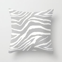 ZEBRA 2 GRAY AND WHITE ANIMAL PRINT Throw Pillow