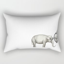 Elefante con gafas, se mira en el espejo Rectangular Pillow