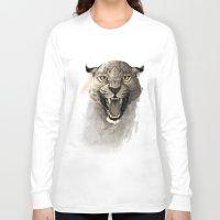 leopard Long Sleeve T-shirts featuring Leopard by Rafapasta
