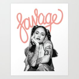 Kehlani SSS Set: SAVAGE Art Print