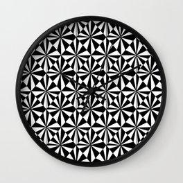 Symetric triangle 8 -vichy, gingham,strip,triangle,geometric, sober,tartan,mandala Wall Clock