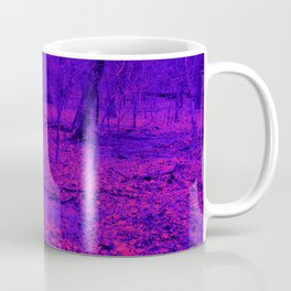 wet woods, red & blue Coffee Mug