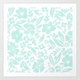 Stamp Floral Pattern Art Print