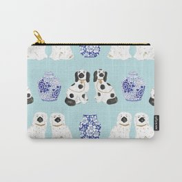 Staffordshire Dogs + Ginger Jars No. 7 Carry-All Pouch