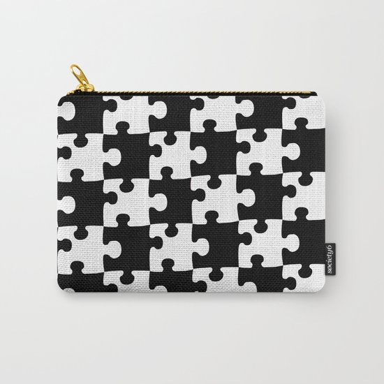 Checkerboard Puzzle Pieces Carry-All Pouch