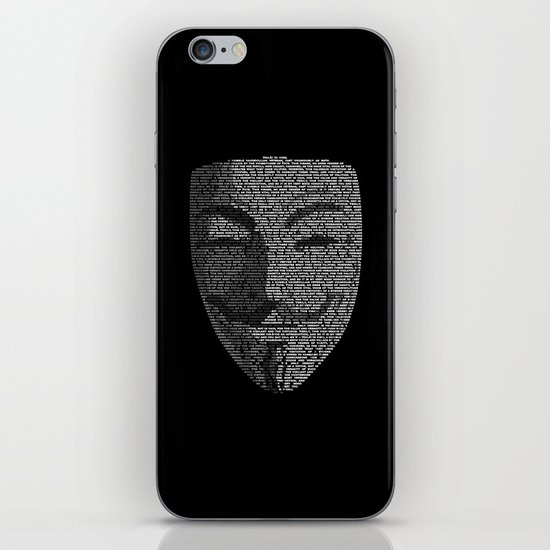 ...You May Call Me 'V' – So who's Anonymous? iPhone & iPod Skin