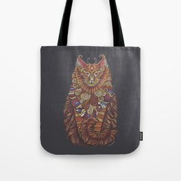 Maine Coon Cat Totem Tote Bag