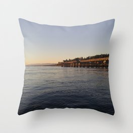 Campbell River Pier Throw Pillow