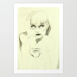 Thinking about you. Art Print