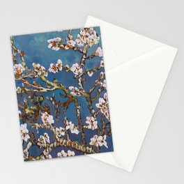 Vincent van Gogh Pink Blossoming Almond Tree (Almond Blossoms) Stationery Cards