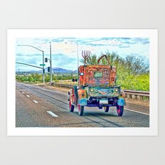 Ole Rattler on Carefree Highway Art Print