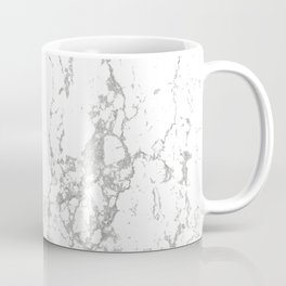 Gray white abstract modern marble pattern Coffee Mug