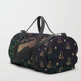 Leo Golden Zodiac Constellation Design Duffle Bag