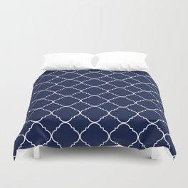 Navy Blue Moroccan Minimal Duvet Cover
