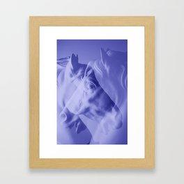 Double Horse Framed Art Print