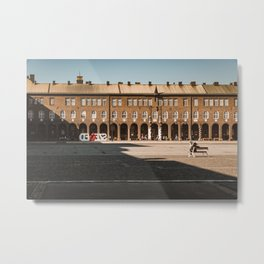 Dóm tér / Dom Square in Szeged, HUngary / Shadow vs Light Metal Print