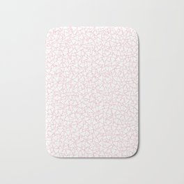 Pink and White Triangles Dizzy All-Over Pattern Bath Mat