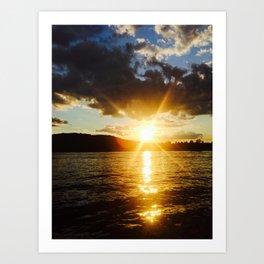 Sokokis Sunset on boyscout island Art Print