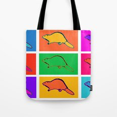 Pop Beaver Tote Bag