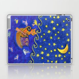 Owl and Pussycat rowed at night Laptop & iPad Skin