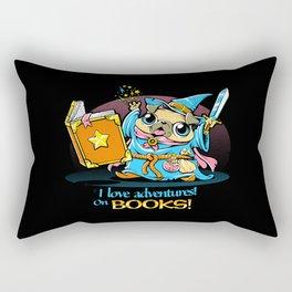 I Love Adventures! On Books. Rectangular Pillow