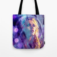 bad wolf Tote Bags featuring Bad Wolf by Sirenphotos
