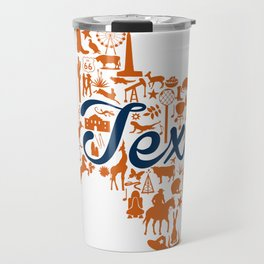 UT Austin Texas Landmark State - Blue and Orange UT Theme Travel Mug