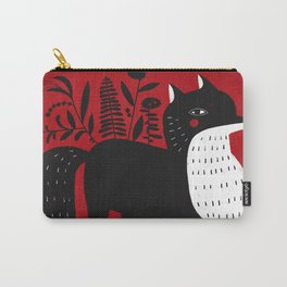 BLACK & WHITE FOX Carry-All Pouch