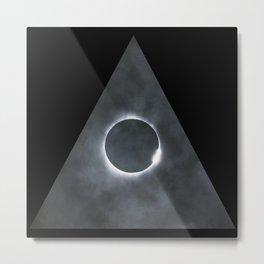Triangle Eclipse Metal Print
