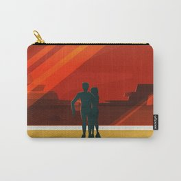 THE MOONS OF MARS - Phobos & Deimos | Space | X | Retro | Vintage | Futurism | Sci-Fi | Two Carry-All Pouch